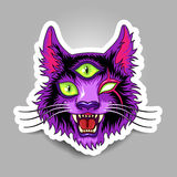 Cat sticker Royalty Free Stock Images