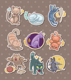 Cat stickers Stock Photography