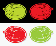 Cat stickers Royalty Free Stock Image