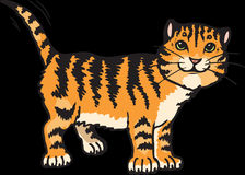 Cat, Stripes, Tiger, Animal, Tail Stock Images