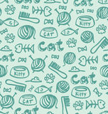 Cat stuff pattern Stock Images