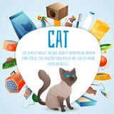 Cat stuff set Royalty Free Stock Image