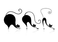 Cat style design - from small to big. This is file of EPS10 format Royalty Free Illustration