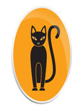 The Cat in the style of Halloween. Picture of a cat in a Halloween style royalty free illustration