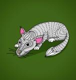 Cat.stylized animal.vegetable模式 免版税库存图片
