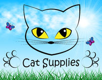 Cat Supplies Means Pedigree Cats And Goods Stock Image