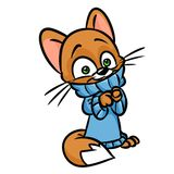 Cat sweater cartoon illustration Royalty Free Stock Photography