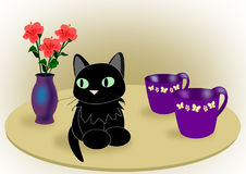 Cat on a Table Royalty Free Stock Photo