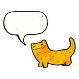 cat talking cartoon Royalty Free Stock Image