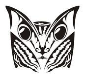 Cat Tattoo. An abstract illustrated design of a cat for body art or tattoo, isolated on a white background Royalty Free Stock Photo