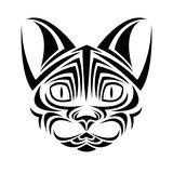 Cat tattoo animal design. Cat tattoo animal draw abstract icon. flat and isolated design. Vector illustration Royalty Free Stock Image