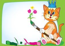 Cat Teach Drawing_eps Stock Photo