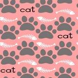 Cat Textile Pattern seamless vektor Royaltyfri Foto