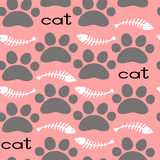Cat Textile Pattern. Vector seamless. Royalty Free Stock Photo
