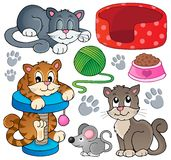 Cat theme collection 1 Royalty Free Stock Photography