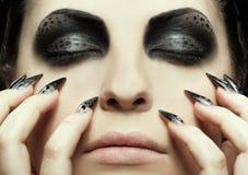 Cat-theme make-up Stock Photography