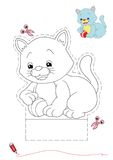 Cat to be color and to cut out vector illustration