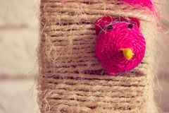Cat toy with colorful mouse face Stock Photography