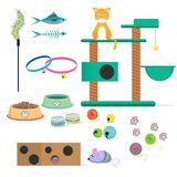 Cat toys collection Royalty Free Stock Photos