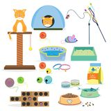 Cat toys collection Stock Image