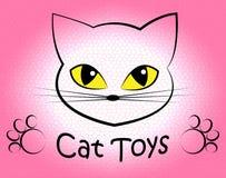 Cat Toys Means Pedigree Cats och kattdjur vektor illustrationer