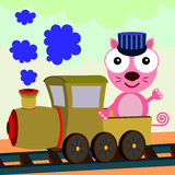 Cat train Stock Photography