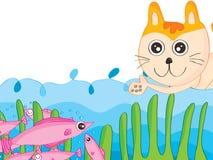 Cat Trap stock illustrationer