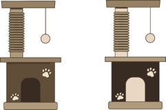 Cat tree. A simple cat tree with ball stock illustration
