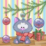 Cat under the tree Stock Photo