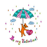 Cat in valentine's day Royalty Free Stock Photography