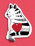 Cat Valentines Immagine Stock