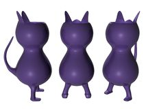 Cat Vase_Raster Royalty Free Stock Images