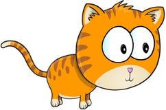 Cat Vector arancio Fotografia Stock Libera da Diritti