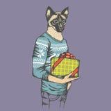 Cat Vector-Illustration Stockfoto