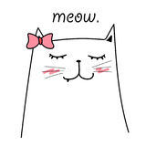 Cat Vector For Kids linda ilustración del vector