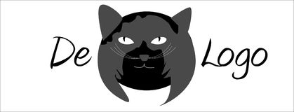 Cat Vector Logo Stock Afbeeldingen