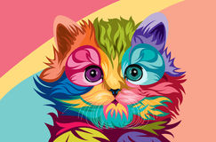 Cat vector lowpoly Stock Photo