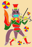 Cat and violin. Cat play on the violin Royalty Free Stock Photos
