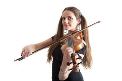 Cat violinist Stock Photo
