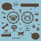 Cat vs dog infographic template Stock Photos