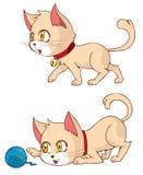 Cat Walking e gioco Immagini Stock Libere da Diritti