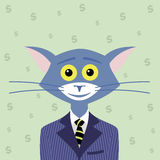 The Cat of Wall Street Royalty Free Stock Images