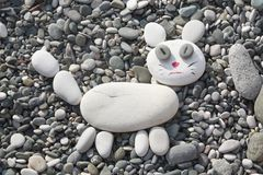 Cat was made of stones Stock Image