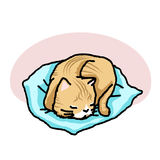 Cat was sleep. Vector illustration rough outline Royalty Free Stock Images