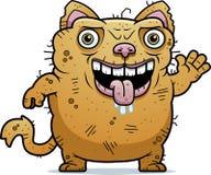 Cat Waving laide Image libre de droits