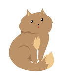 Cat  on White. Domestic, Feral Kitten. Cat  on white. Domestic cat, feral cat, house cat is a small, typically furry, carnivorous mammal. Sticker for children Stock Photo