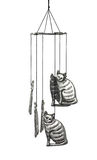 Cat wind chime Royalty Free Stock Photo