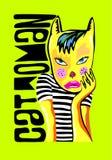 Cat woman. Art vector illustration Royalty Free Stock Image
