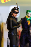Cat Woman Figurine Royaltyfri Fotografi