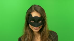 Cat woman stock video footage